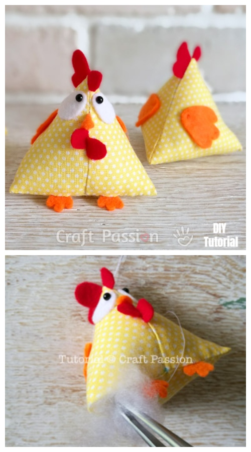 DIY Funny Easter Chicken Free Sewing Patterns & Tutorials
