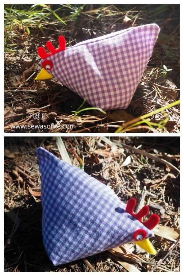 DIY Fabric Sweet Little Hen Free Sewing Pattern