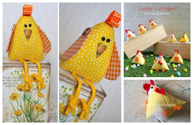 DIY Easter Chicken Free Sewing Patterns
