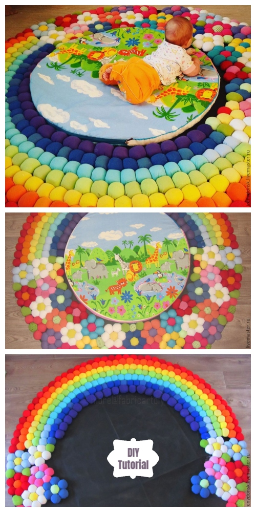 DIY Fabric Bubble Baby Play Mat Free Sewing Tutorials