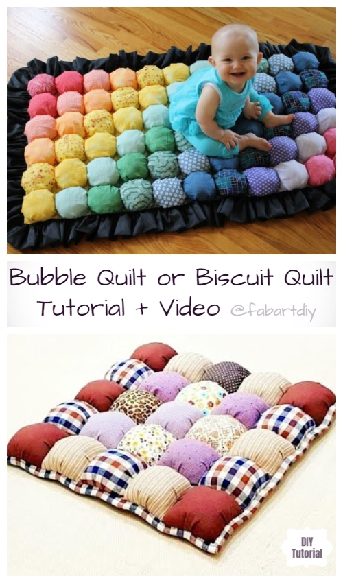 DIY Fabric Bubble Qulit Free Sewing Tutorial +Video