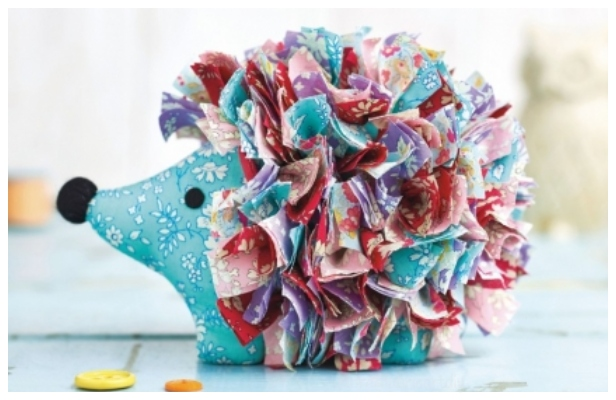 DIY Fabric Liberty Hedgehog Toy Free Sewing Pattern