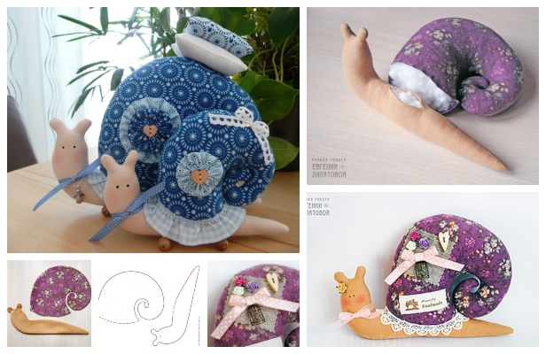 DIY Fabric Snail Free Sewing Patterns & Tutorials