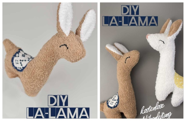 DIY Fabric Toy Llama Free Sewing Pattern + Video Tutorial