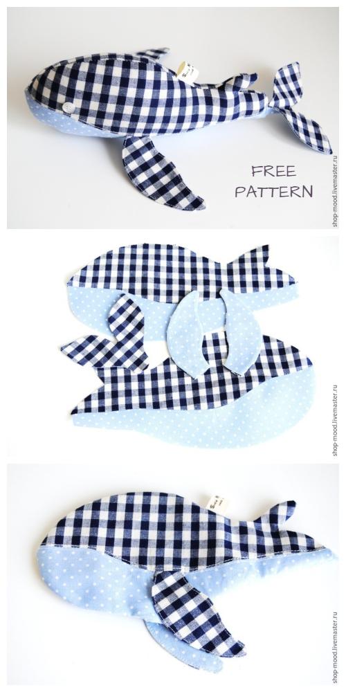 DIY Fabric Whale Plush Free Sewing Pattern