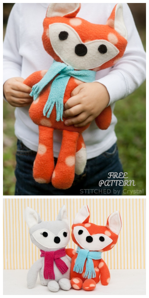 DIY Cute Stuffed Felt Fox Free Sewing Patterns