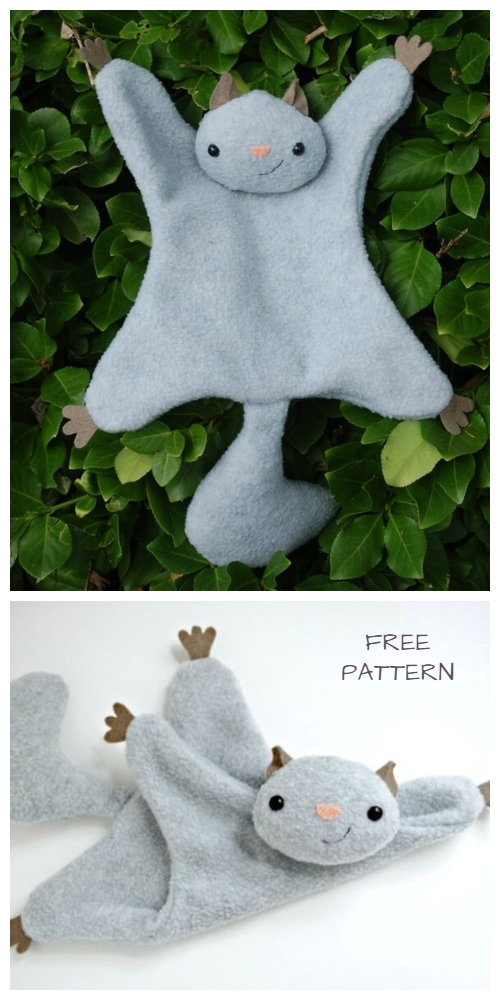 DIY Flying Squirrel Lovey Free Sewing Pattern&Tutorial
