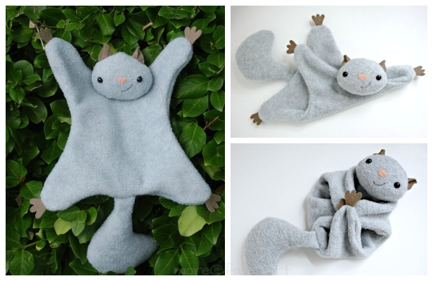 DIY Flying Squirrel Lovey Free Sewing Pattern