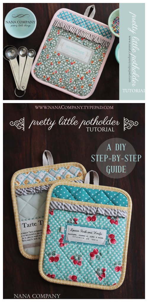 DIY Little Classy Potholder Free Sewing Pattern & Tutorial