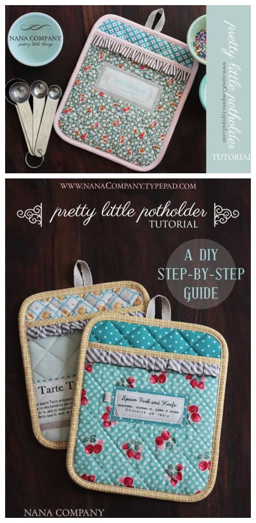 DIY Little Classy Potholder Free Sewing Pattern & Tutorial