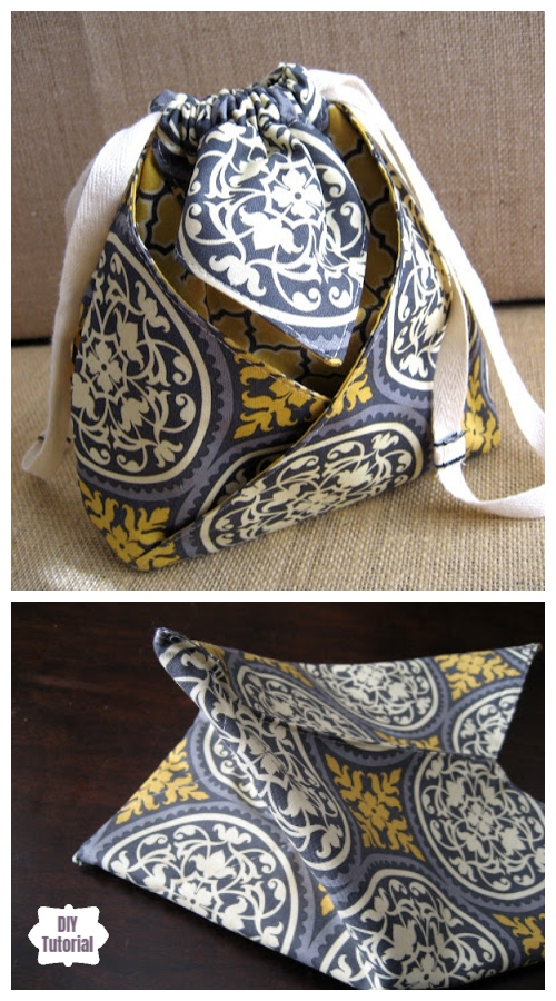 DIY Mini String Pouch Free Sewing Patterns & Tutorials