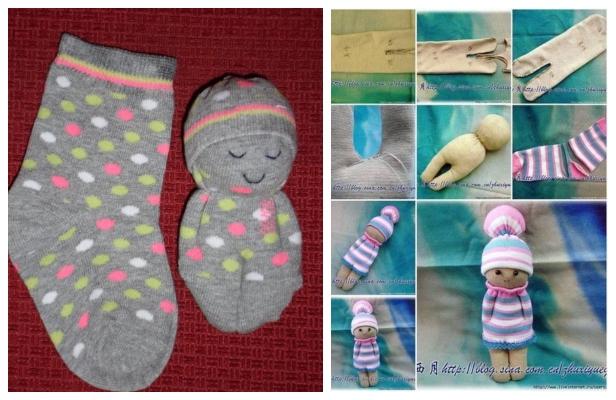 fabricartdiy DIY Sock Doll Free Sewing Patterns f