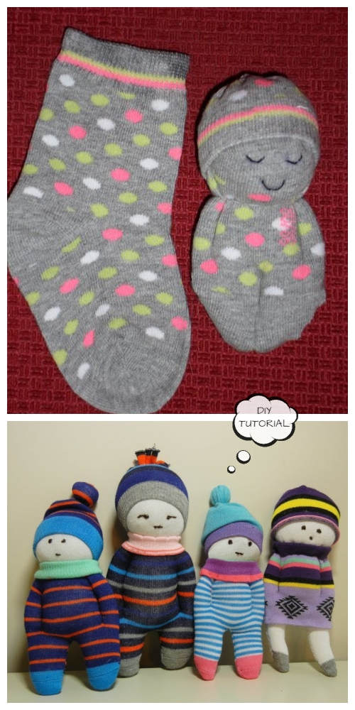 DIY Sock Doll Free Sewing Patterns + Video