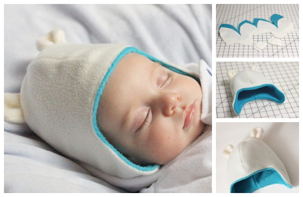 DIY Teddy Bear Baby Beanie Hat Free Sewing Patterns