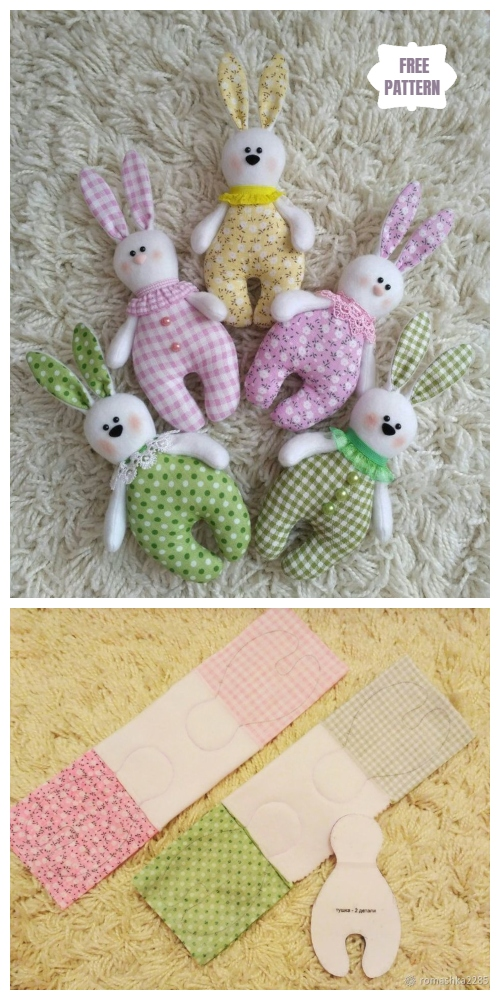 Easy DIY Fabric Bunny Free Sewing Pattern for Kids