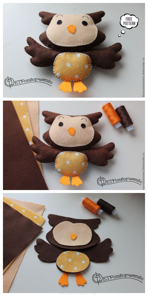 DIY Sweet Felt Owl Mobile Free Sewing Patterns