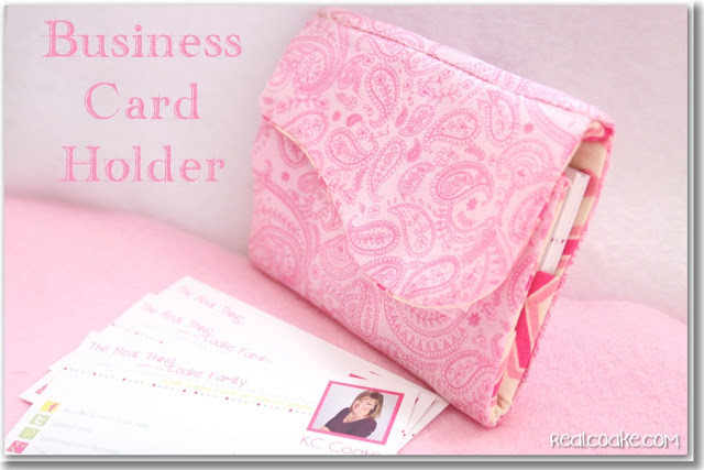 DIY Business Card Holder Free Sewing Patterns