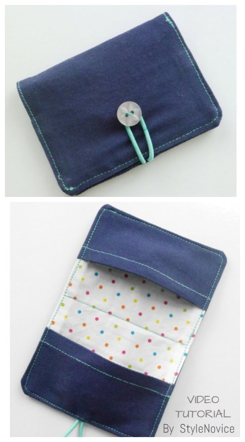 DIY Fabric Business Card Holder Free Sewing Patterns