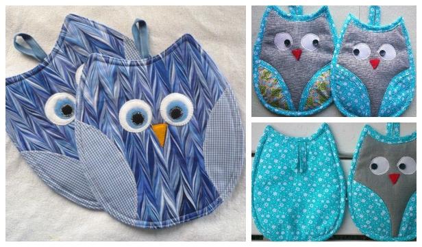 DIY Owl Potholder Free Sewing Patterns & Tutorials