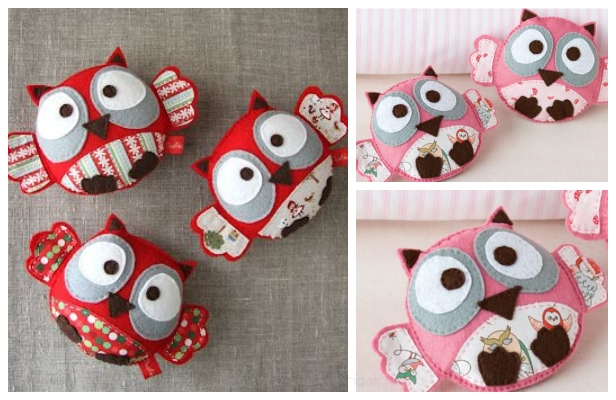 DIY Baby Felt Owl Free Sewing Patterns