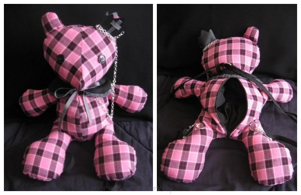 DIY Teddy Bear Backpack Free Sewing Pattern & Tutorial