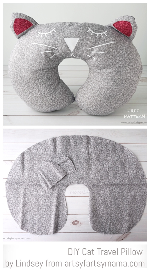 DIY Cat Travel Pillow Free Sewing Pattern