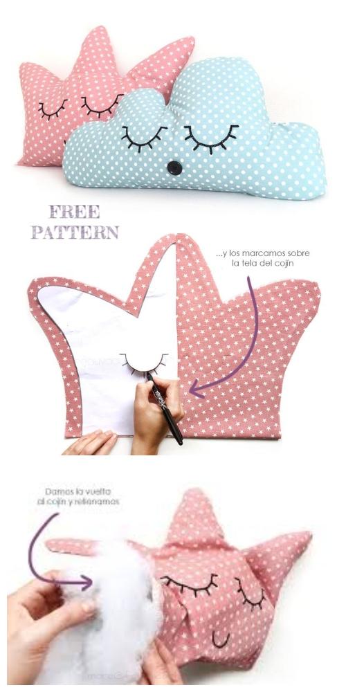 DIY Crown Pillow Free Sewing Patterns & Tutorials