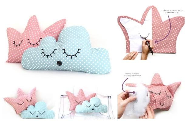 fabricartdiy DIY Crown Pillow Free Sewing Patterns ft