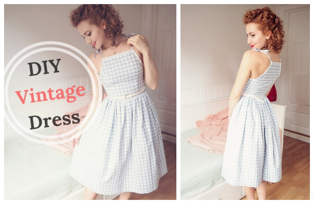 DIY Easy Vintage Dress Free Sewing Pattern & Tutorial