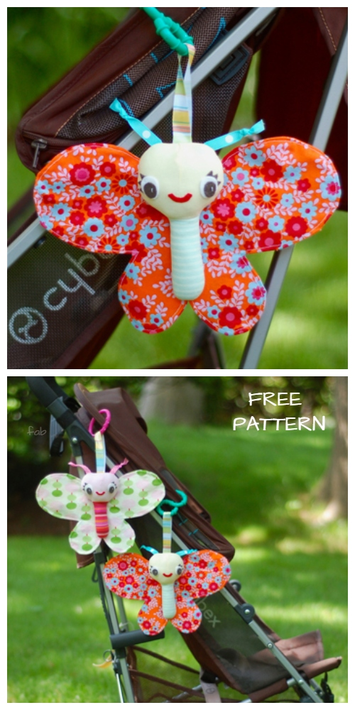 DIY Fabric Butterfly Toy Free Sewing Patterns