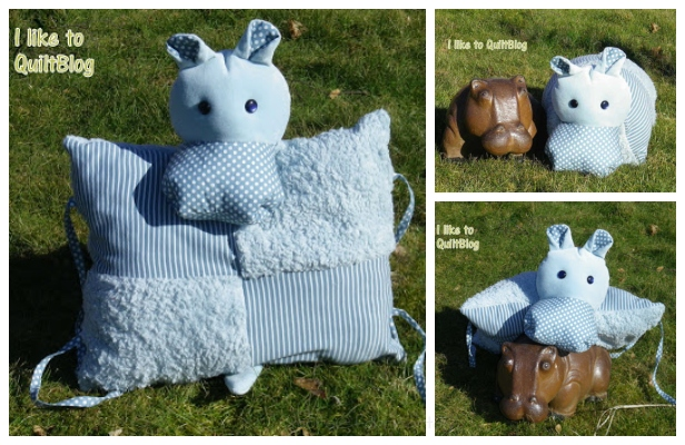 DIY Fabric Hippo Pillow Free Sewing Pattern & Tutorial