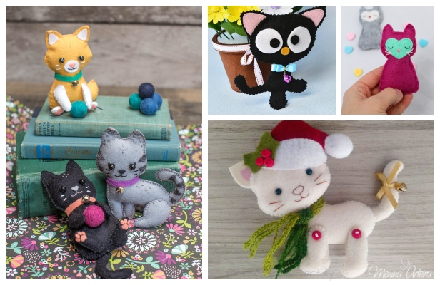 DIY Felt Kitty Cat Free Sewing Patterns