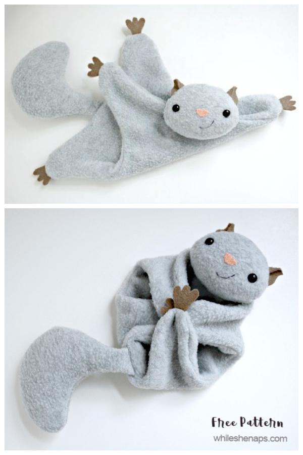 DIY Flying Squirrel Lovey Free Sewing Pattern&Tutorial