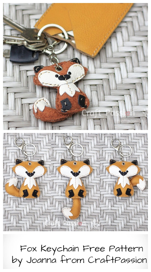 DIY Fox Keychain Free Sewing Pattern