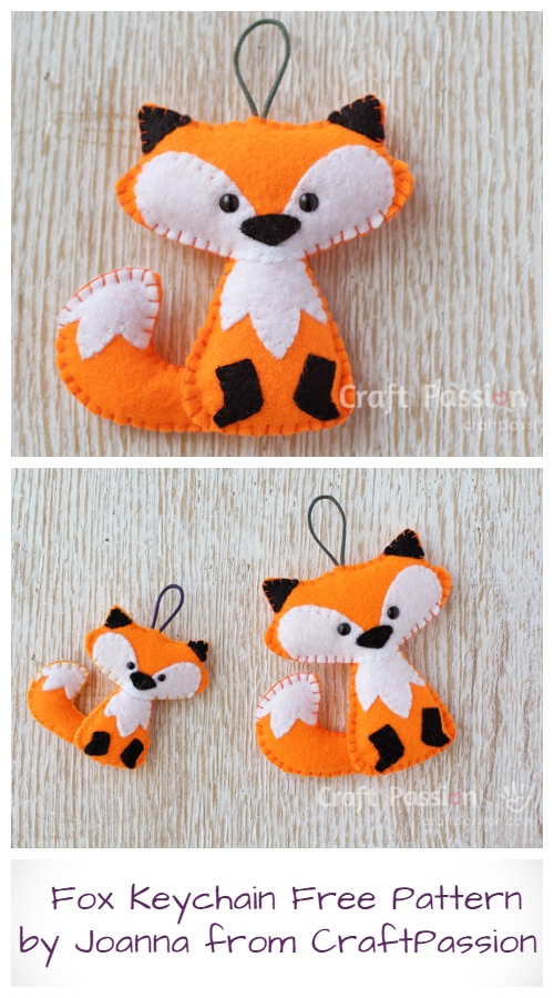 DIY Fox Keychain Free Sewing Pattern & Tutorial