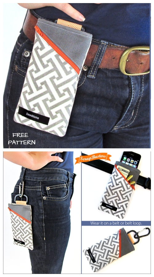 DIY Handy Clip-on Belt Pouch Free Sewing Pattern & Tutorial