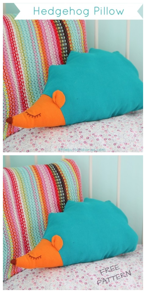 DIY Hedgehog Pillow Free Sewing Pattern