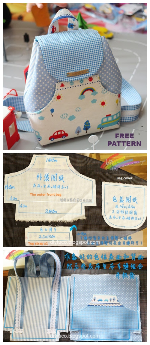 DIY Kids Backpack Free Sewing Pattern
