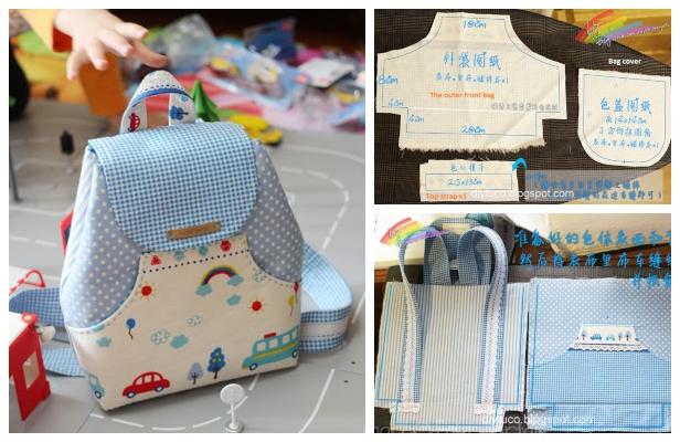 DIY Kids Backpack Free Sewing Pattern