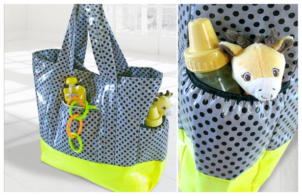 DIY Laminated Little Sunshine Diaper Tote Free Sewing Pattern & Tutorial