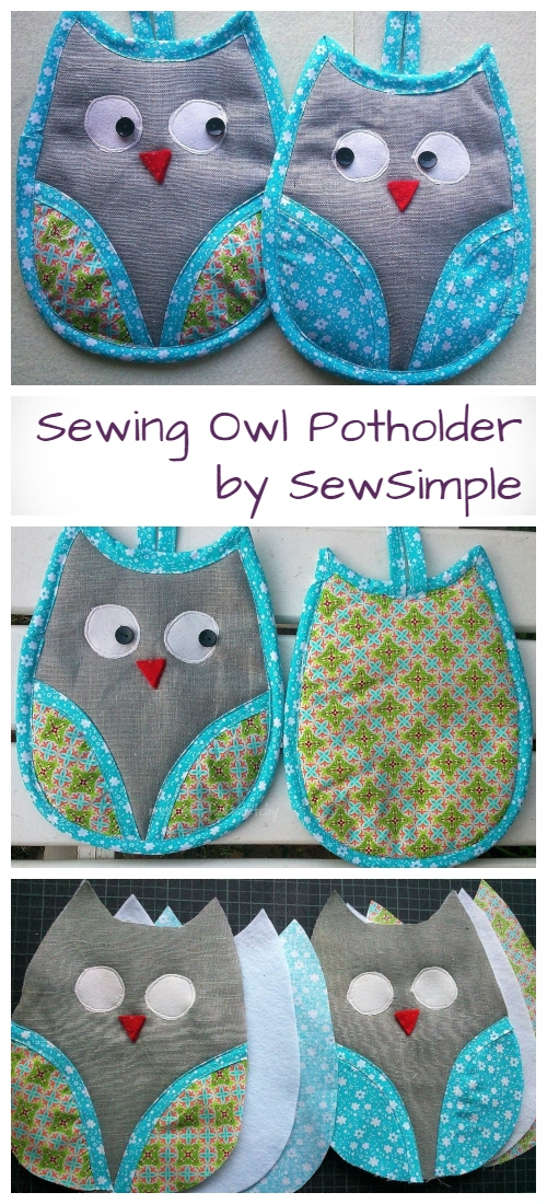 DIY Owl Potholder Free Sewing Patterns + Video