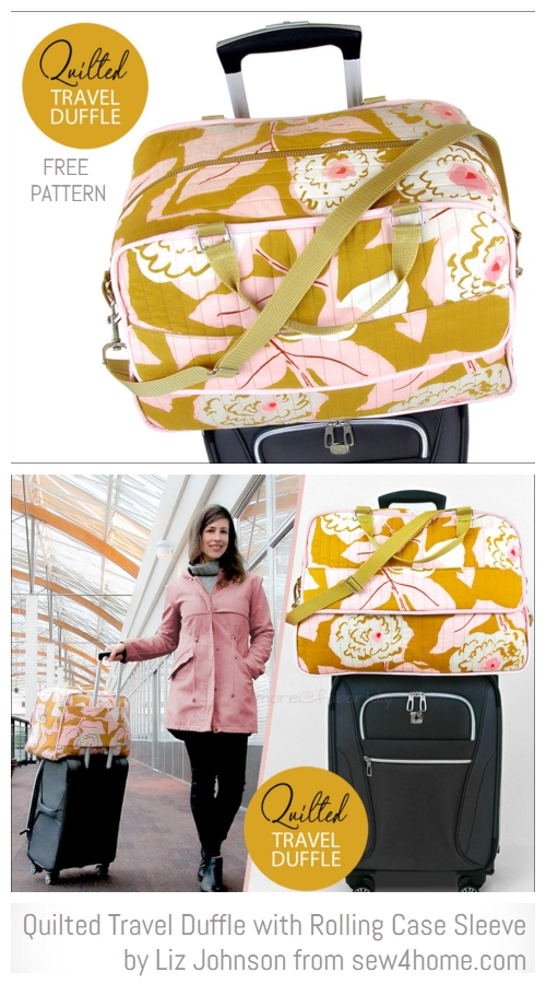 DIY Quilted Travel Duffle Bag Free Sewing Patterns