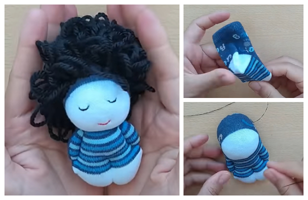 How to Turn Single Baby Sock into Sock Doll Tutorial - No Scissors Used