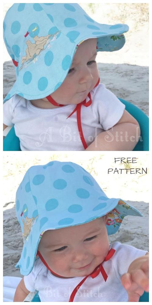 DIY Reversible Tulip Petal Sun Hat Free Sewing Patterns