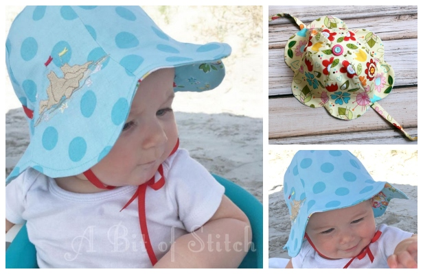 DIY Reversible Tulip Petal Sun Hat Free Sewing Patterns