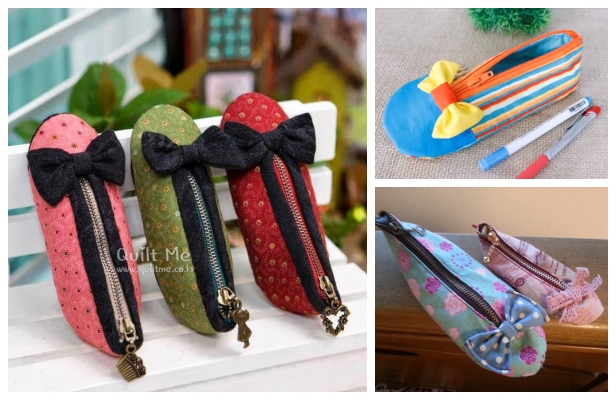 DIY Shoe Pencil Case Free Sewing Pattern + Video