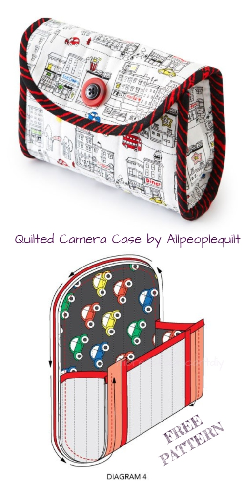DIY Quilted Camera Case Free Sewing Pattern