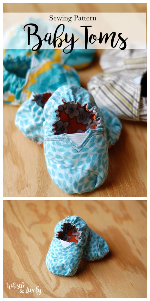 DIY Tom's Inspired Baby Shoes Free Sewing Patterns