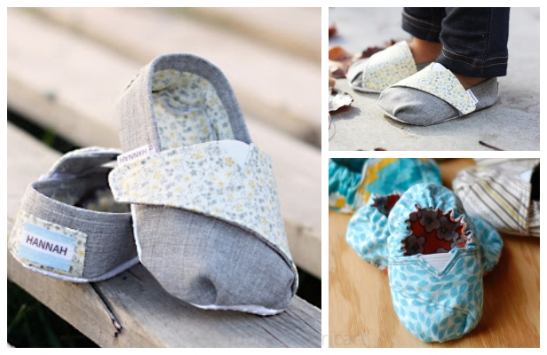 DIY Tom's Inspired Baby Shoes Free Sewing Patterns & Tutorials