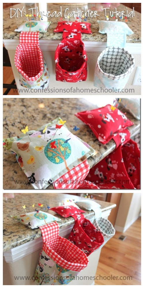 DIY Thread Catcher Hanging Bag Free Sewing Patterns
